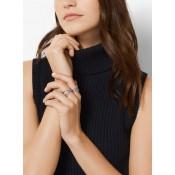 La Boutique Officielle Bague Argentée à Pavé Michael Kors Femme Argent