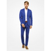 Soldes Blazer Cintré En Coton Extensible Michael Kors Homme Bleu Littoral