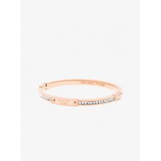 Bracelet à Logo, Charnière Et Baguettes Ton Or Rose Michael Kors Femme Or Rose Acheter