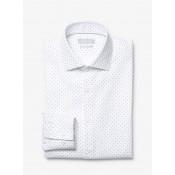 Chemise Coupe Slim En Coton à Points Michael Kors Homme Bleu Marine Pas Cher