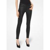 Pantalon Selma Skinny En Cuir Michael Kors Femme Noir Paris Boutique