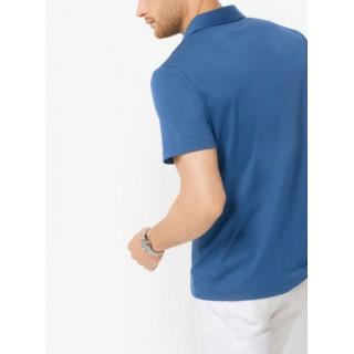 Polo En Coton Michael Kors Homme Bleu Océan Acheter
