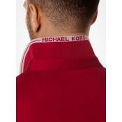 Polo Greenwich En Coton Michael Kors Homme Rouge Rubis Escompte En Lgine