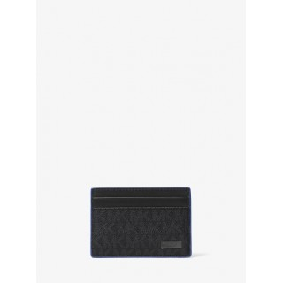 Porte-Cartes Jet Set Avec Logo Michael Kors Homme Bleu/Noir Boutique