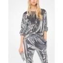 Acheter Pull-Over En Jersey Mat à Sequins Michael Kors Femme Béton