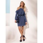 Robe Ajourée Fleurie à Volants Michael Kors Femme Myrtille Boutique En Ligne