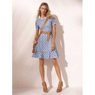 Boutique officielle Robe à Œillets Et Pâquerettes Brodés Michael Kors Femme Blanc