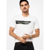 T-Shirt En Coton Avec Logo Michael Kors Homme Blanc Vendre Lyon