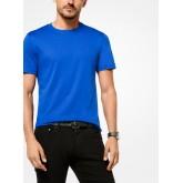 T-Shirt En Coton Mercerisé Michael Kors Homme Bleu Nautique Site Francais