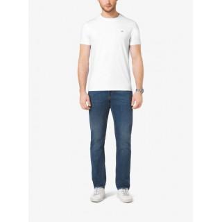 Promotions T-Shirt Ras Du Cou En Coton Michael Kors Homme Blanc