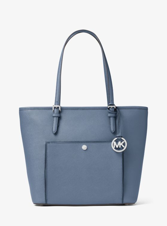 Grand Sac à Main Jet Set Travel En Cuir Michael Kors Femme Denim