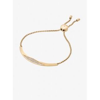 Vente Privée Bracelet à Glissière Dorée Et Pavés Michael Kors Femme Or