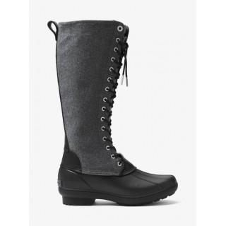 Chaussures De Pluie Easton En Flanelle Et Caoutchouc Michael Kors Femme Noir En Soldes