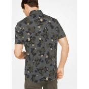 Chemise Cintrée En Coton Camouflage Et Carreaux Michael Kors Homme Lierre Promos