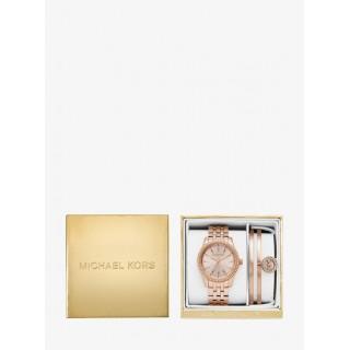 Vente Nouveau Coffret Montre Ritz Ton Or Rose Et Bracelet Rigide Michael Kors Femme Or Rose