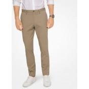 Officielle Pantalon Ajusté En Coton Extensible Michael Kors Homme Kaki