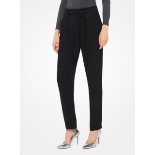 La Collection 2018 Pantalon Plissé En Cady Michael Kors Femme Noir