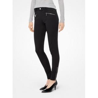 Pantalon Skinny En Sergé Extensible Michael Kors Femme Noir à Vendre