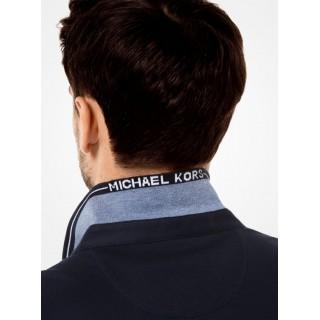 Polo Greenwich En Coton Michael Kors Homme Bleu De Minuit Pas Chere