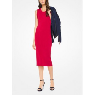 Robe à Volants En Viscose Extensible Michael Kors Femme Rouge Véritable Prix France