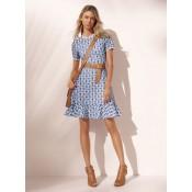 Boutique officielle Robe à Œillets Et Pâquerettes Brodés Michael Kors Femme  Blanc 98a669d6908