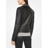 Veste Clouée En Imitation Cuir Michael Kors Femme Noir Boutique France