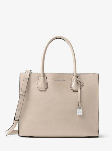 Grand Sac à Main Mercer En Cuir Michael Kors Femme Ciment