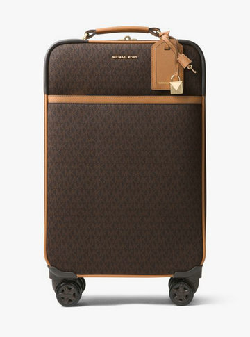 Valise Jet Set Travel Avec Logo Michael Kors Femme Marron